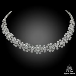 VAN CLEEF & ARPELS Diamond Flower Convertible Necklace
