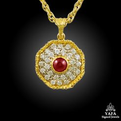 BUCCELLATI Diamond, Ruby Pendant
