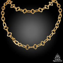 VAN CLEEF & ARPELS Gold Alhambra Necklace
