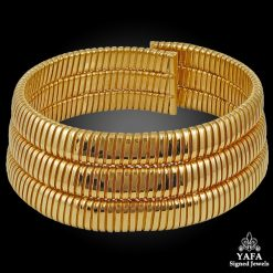18k Gold Tubogas Choker Necklace