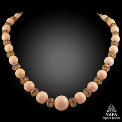 VAN CLEEF & ARPELS Coral Sapphire Convertible Necklace