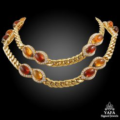 BULGARI Diamond, Cabochon Citrine Necklace