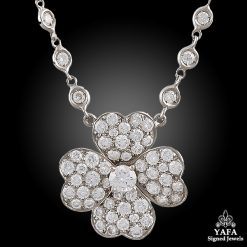 VAN CLEEF & ARPELS Diamond Cosmos Pendant Diamond Chain