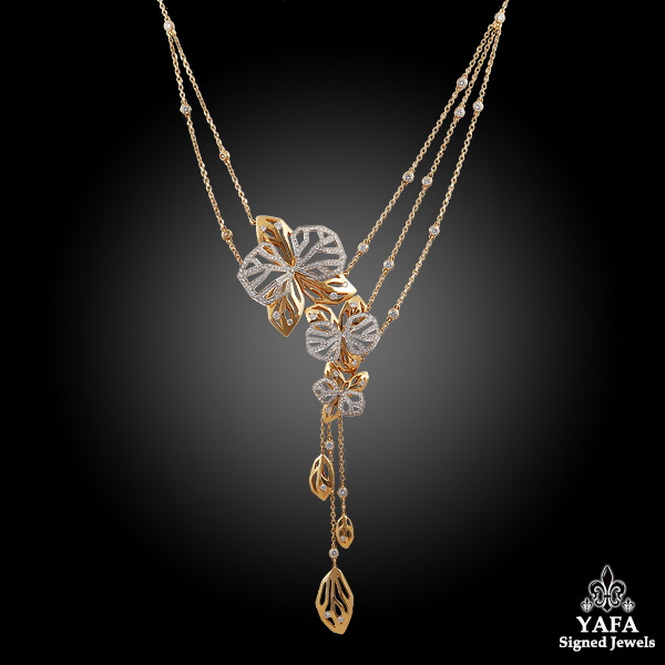 CARTIER Two tone Gold Diamond Necklace