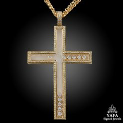CHOPARD Happy Diamonds Cross Necklace Pendant