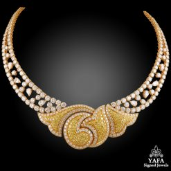 BOUCHERON Fancy Yellow, White Diamond Necklace
