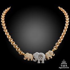 CHOPARD Diamond 3 Elephant Necklace