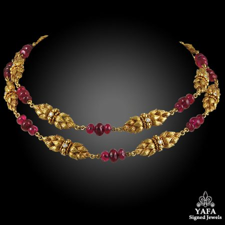 VAN CLEEF & ARPELS Diamond Ruby Necklace