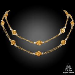 DAVID MORRIS Diamond, Yellow Sapphire Necklace