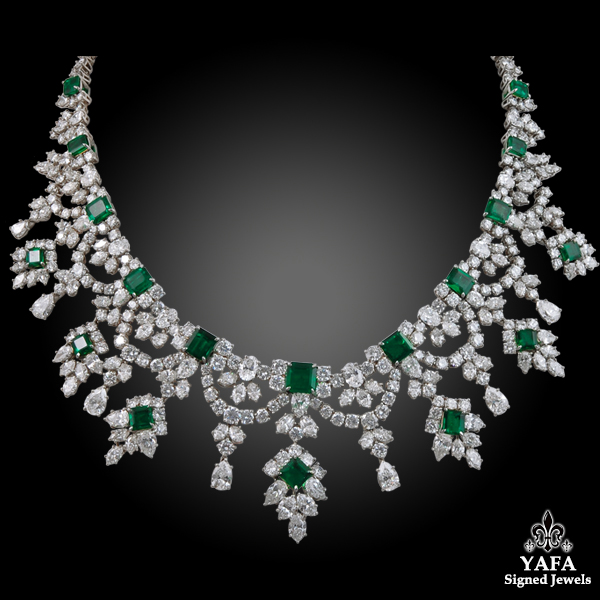 HARRY WINSTON Diamond, Emerald Necklace
