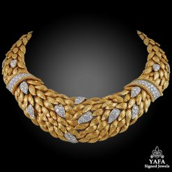 DAVID WEBB Two Tone Diamond Necklace