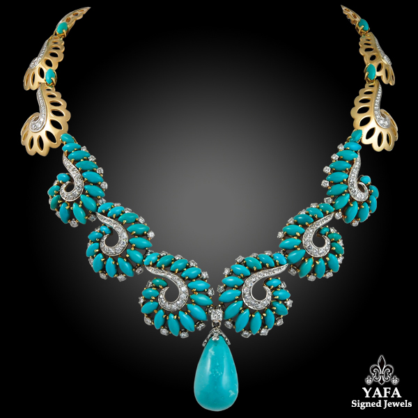BOUCHERON Diamond Turquoise Necklace