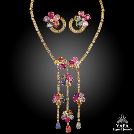 BULGARI Diamond Multi-Color Sapphire Necklace