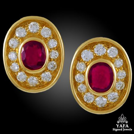 BULGARI Diamond, Ruby  Earrings