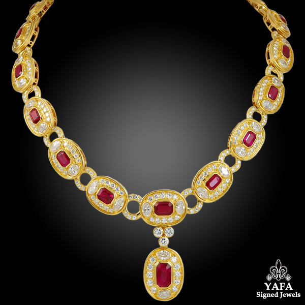 BULGARI Diamond, Ruby Necklace