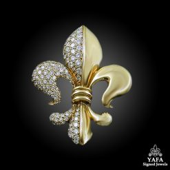 Diamond Fluer de Lys Brooch