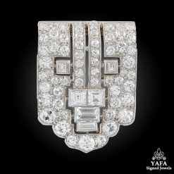 CARTIER Platinum Diamond Clip