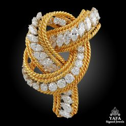 DAVID WEBB Diamond Knot Brooch