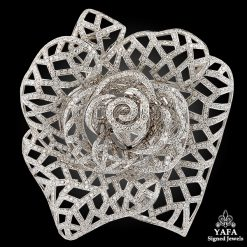 Large Diamond Flower Brooch