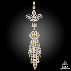 Platinum Natural Fancy Color & White Diamond Pendant
