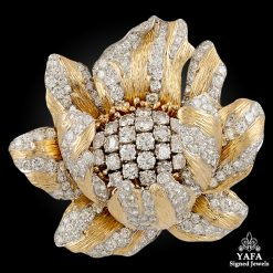 DAVID WEBB Gold Diamond Brooch