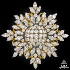18k Two Tone Diamond Brooch