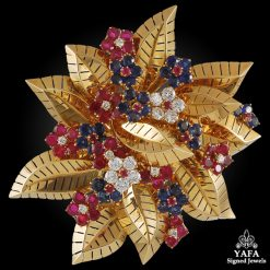 VAN CLEEF & ARPELS Diamond Gem-set Brooch