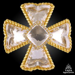 DAVID WEBB Diamond,Crystal Brooch