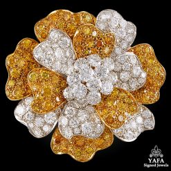 VAN CLEEF & ARPELS White,Yellow Diamond Brooch/Pendant