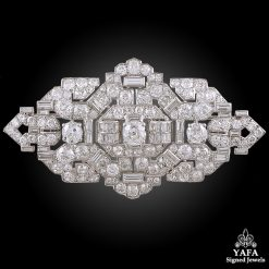 CARTIER Platinum Diamond Brooch