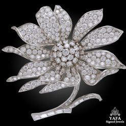 BOUCHERON Diamond Flower Brooch