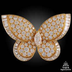 VAN CLEEF & ARPELS Diamond Butterfly Brooch