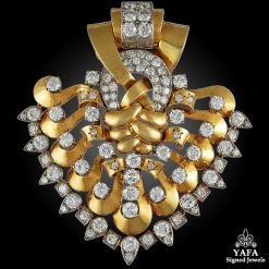 VAN CLEEF & ARPELS Diamond Clip Brooch