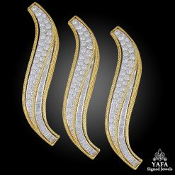 VAN CLEEF & ARPELS Diamond Flame Hair Clip Brooches