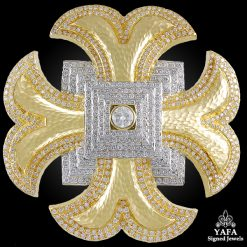 DAVID WEBB Maltese Cross Diamond Brooch