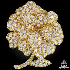 VAN CLEEF & ARPELS Diamond Flower Brooch-15ct