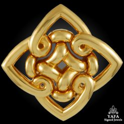 BULGARI Yellow Gold Brooch