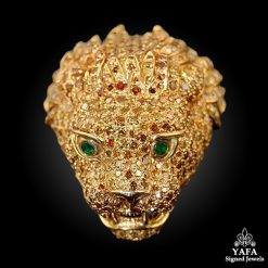 VERDURA Fancy Yellow Diamond & Emerald Pin