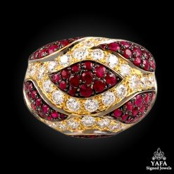 DE GRISOGONO Diamond,Ruby Ring