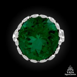 118k White Gold Emerald Ring