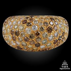 CARTIER Fancy Yellow, White Diamond Ring