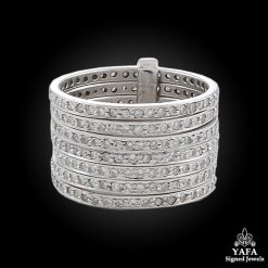 Platinum Diamond 7 Stacks Ring