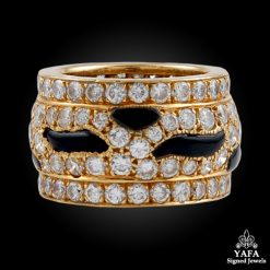 CARTIER Diamond, Onyx Wedding Ring