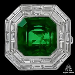 Platinum Diamond,Emerald Ring 11.03 cts.