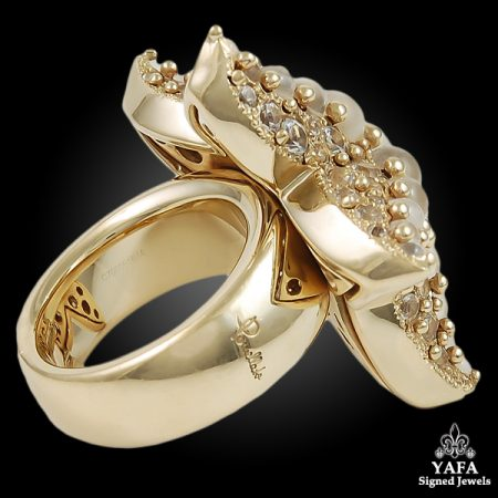 POMELLATO 18k Gold Moonstone Starfish Ring