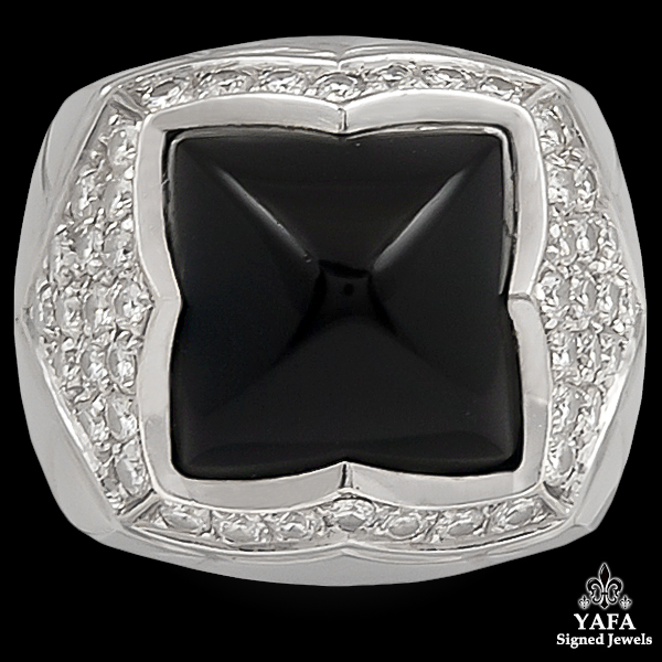 BULGARI Diamond,Onyx Ring