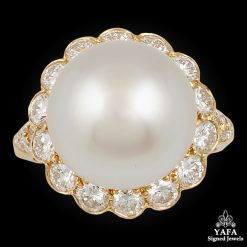 VAN CLEEF & ARPELS Diamond, 4 mm Pearl Ring