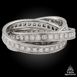 CARTIER White Gold Diamond Trinity Ring