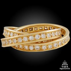 CARTIER Diamond Trinity Yellow Gold Ring
