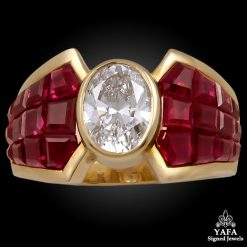 VAN CLEEF & ARPELS Mystery-set Ruby, Diamond Ring